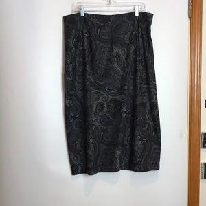 Briggs Velvet Paisley Skirt XL PLUS SIZE